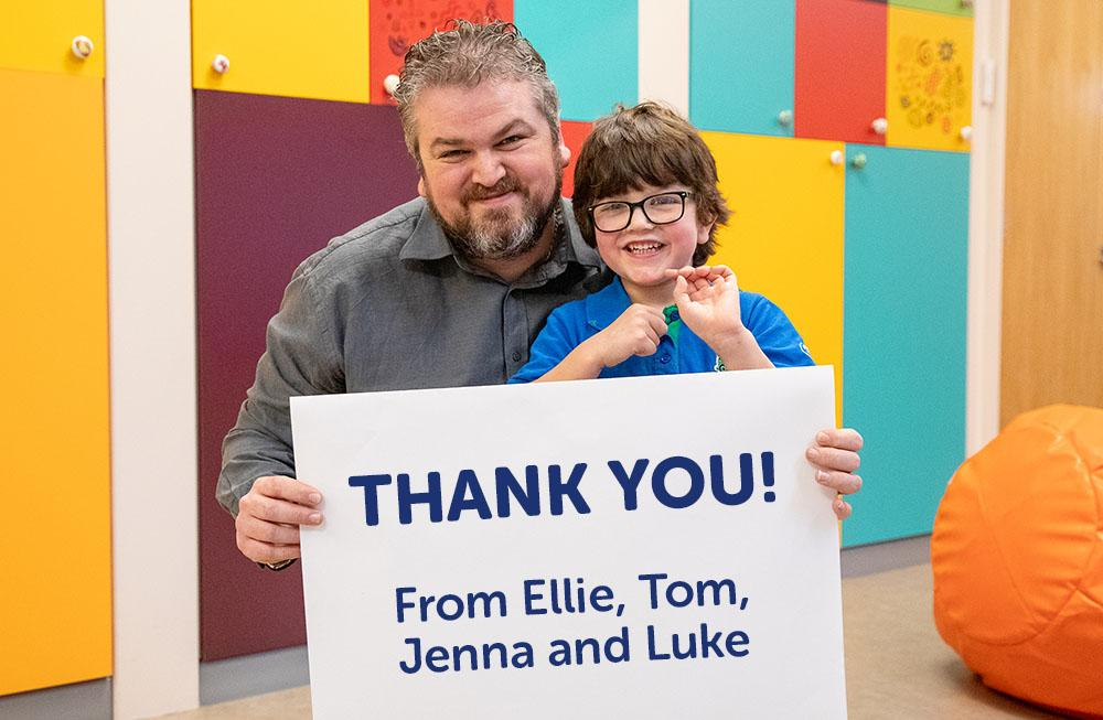 Thank you from Ellie, Tom, Jenna and Luke